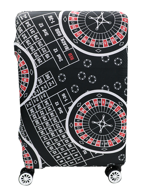 Roulette Printed Luggage Cover