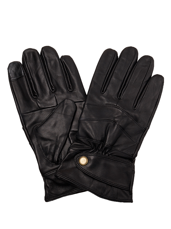 MEN LEATHER GLOVES WITH FUR LINING