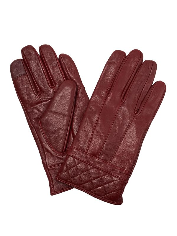 WOMEN QUILTED CUFF LEATHER GLOVES