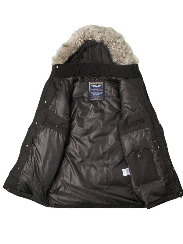 CLASSIC MIXED FABRICATION DOWN JACKET