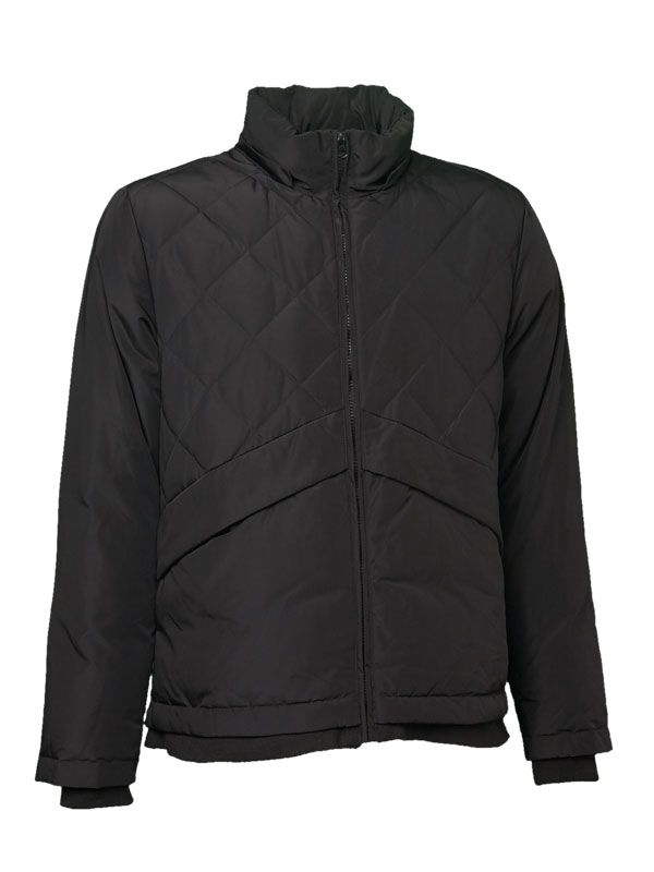 MIXED QUILTED DOWN JACKET