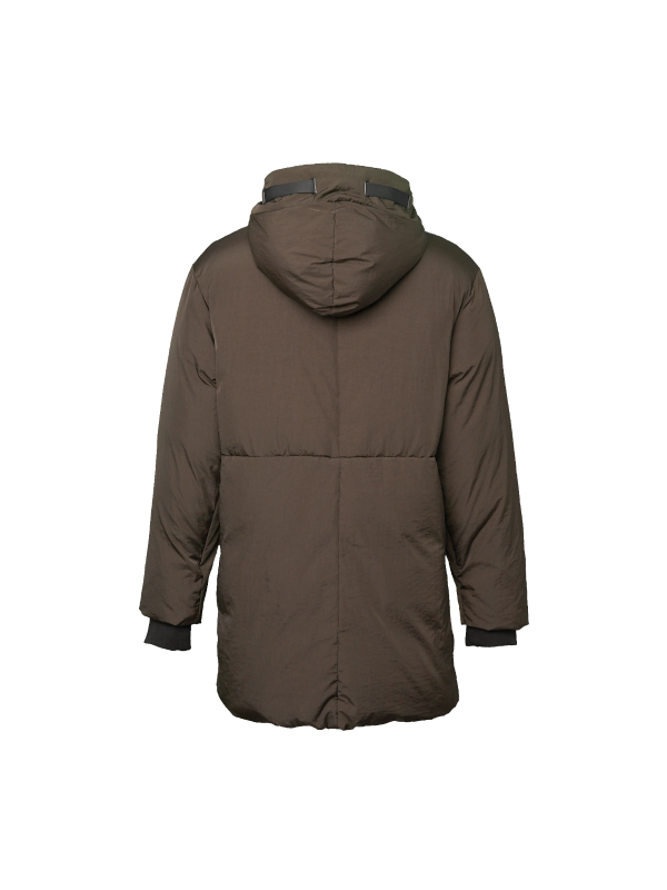 DOWN JACKET WITH REFLECTIVE PRINTS