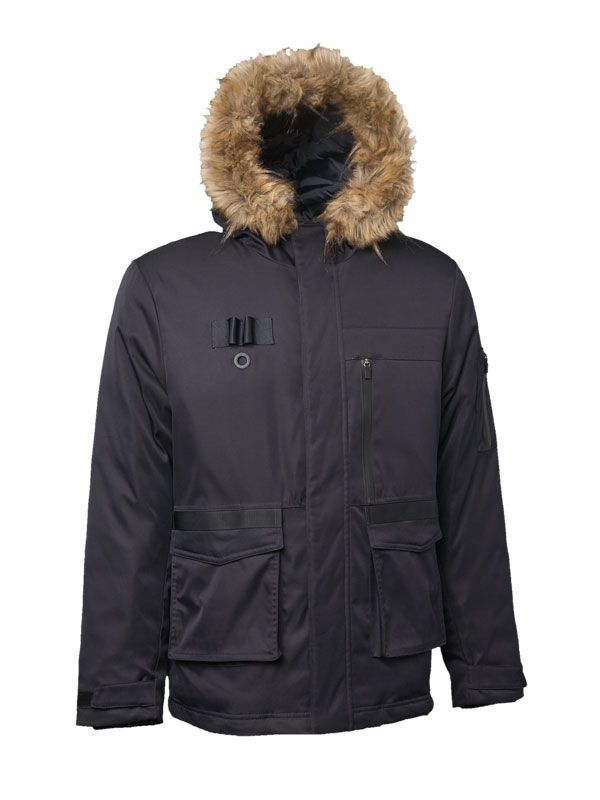 DOWN JACKET WITH DECORATIVE DETAILS