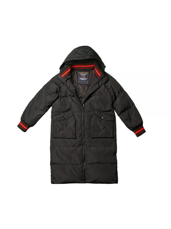 OVERSIZED DOWN JACKET WITH RIBBED TAPING