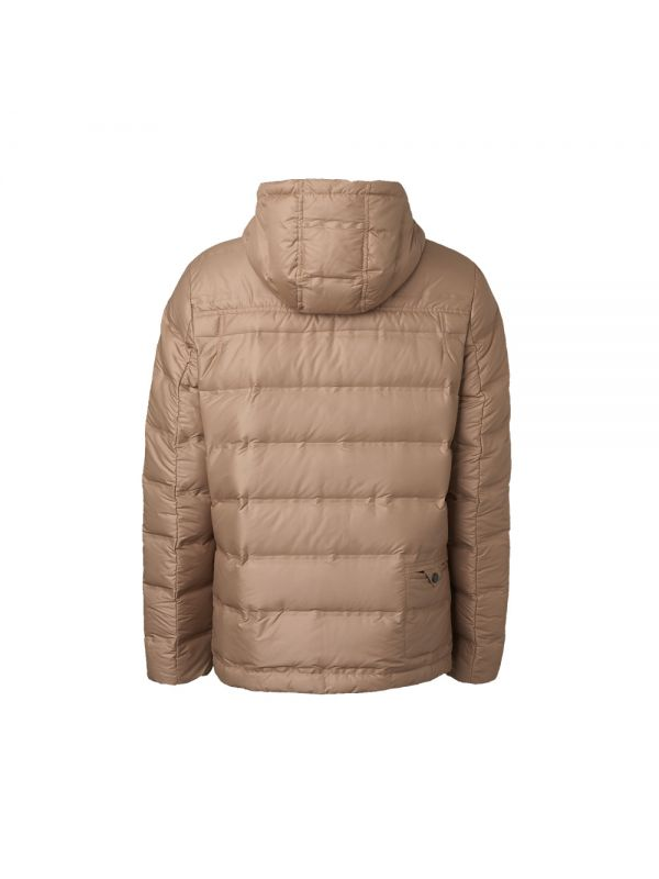 HEATSEALED DOWN JACKET WITH DRAW STRING BAG