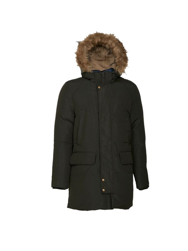 CLASSIC DOWN JACKET WITH CONTRAST LINING