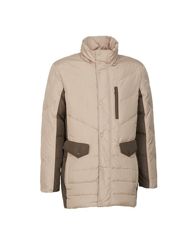 CLASSIC DOWN PARKA JACKET WITH CONTRAST PANEL