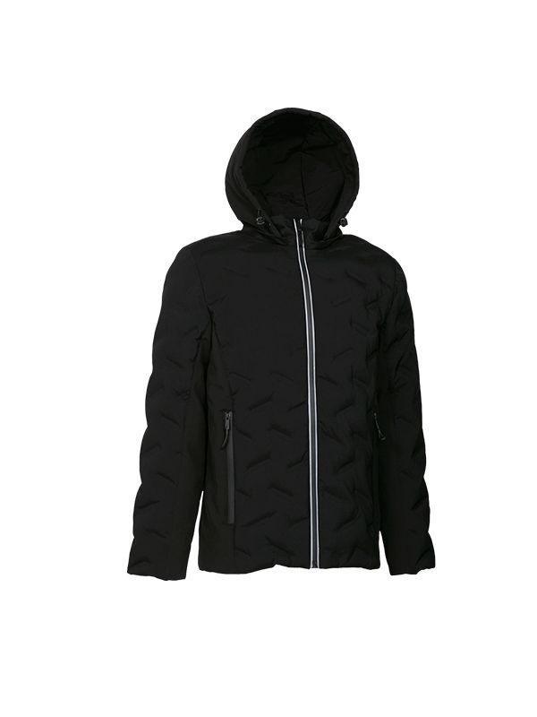 HEAT SEAL DOWN PARKA JACKET WITH REFLECTIVE PRINT