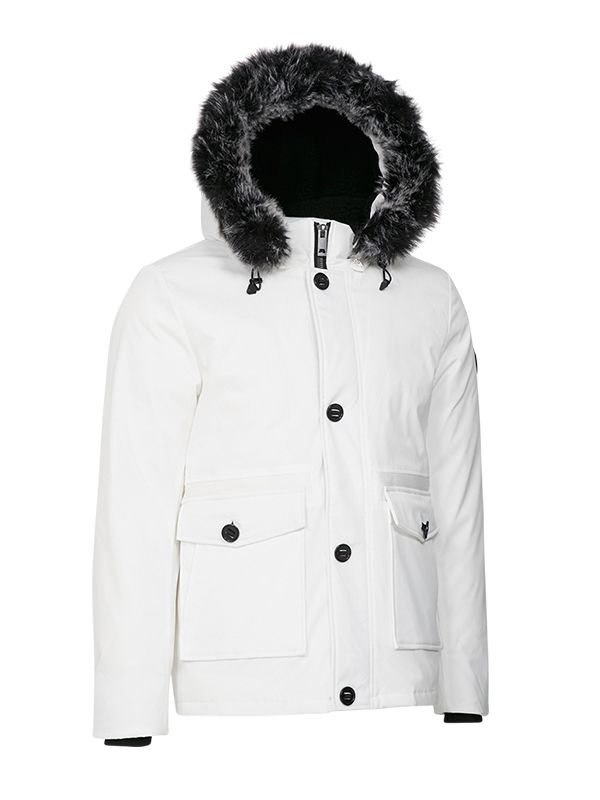 SHORT TRENDY DOWN PARKA JACKET