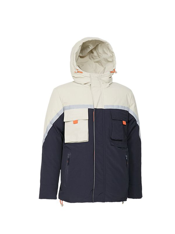 ACTIVE DOWN PARKA JACKET WITH REFLECTIVE PRINT