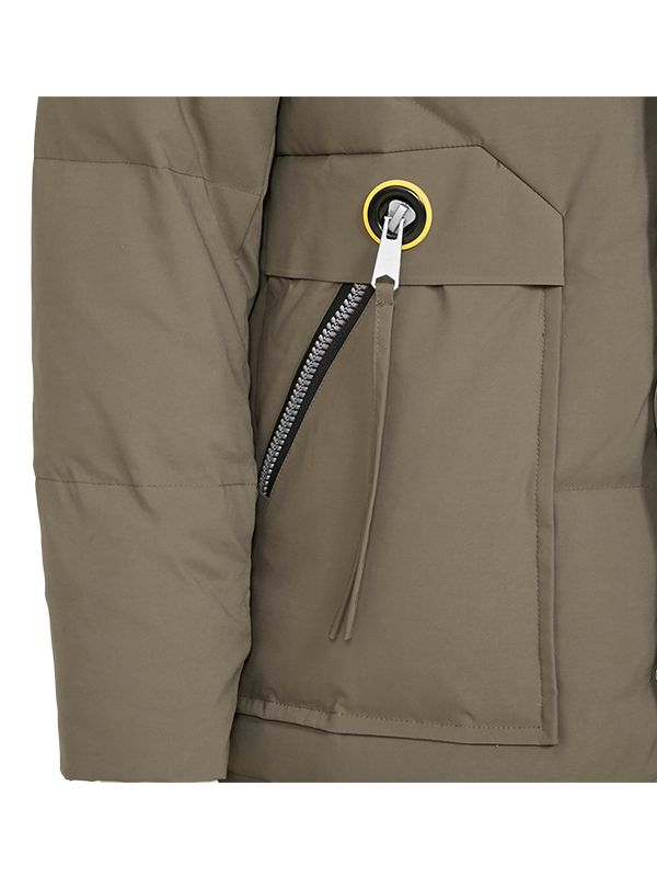 FITTED TRENDY DOWN PARKA JACKET