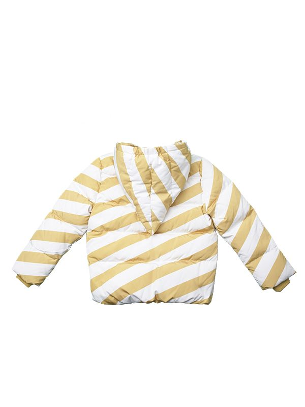 CANDY-CANE YELLOW DOWN JACKET