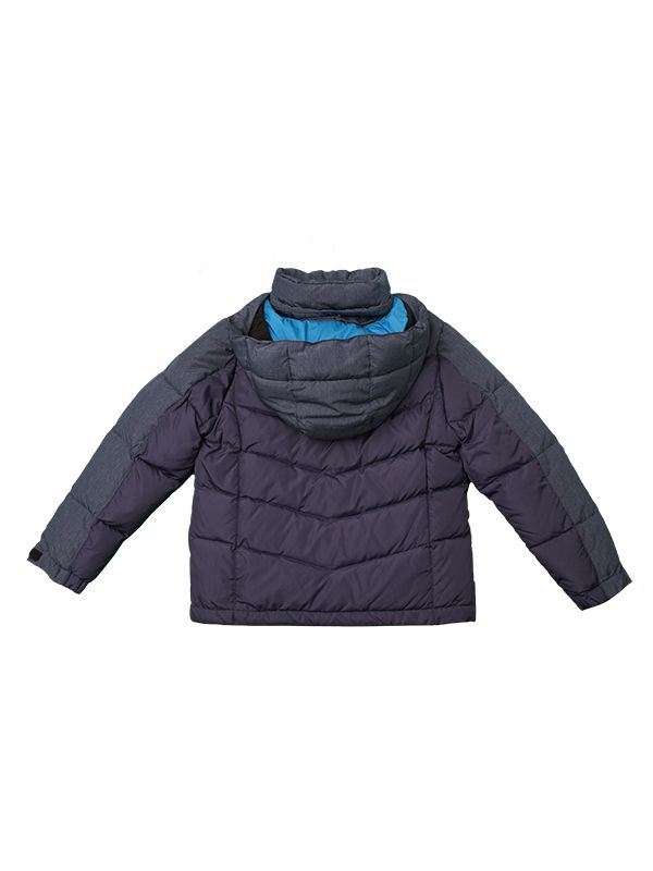 CONTRAST PANEL DOWN JACKET