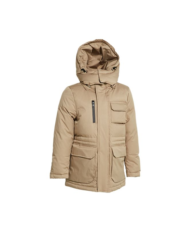 DOWN JACKET WITH CONTRAST LINING