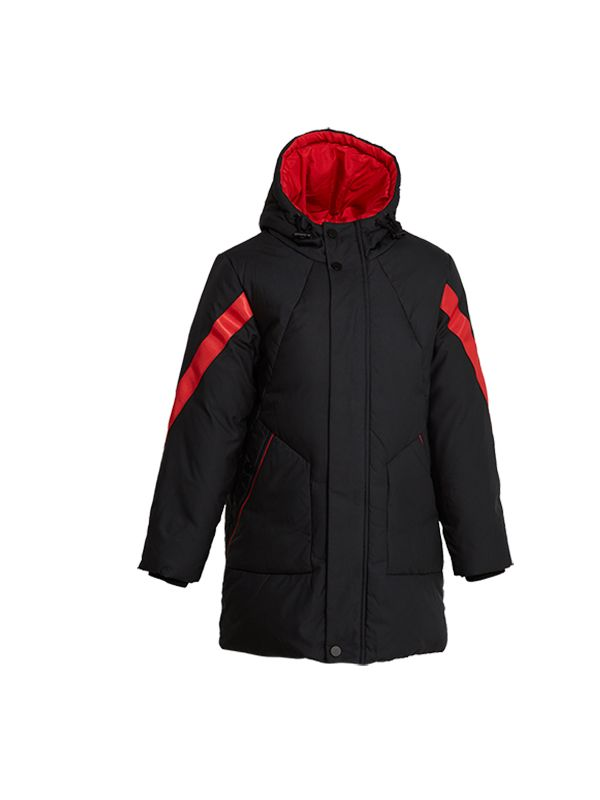 DOWN JACKET WITH CONTRAST TRIMS