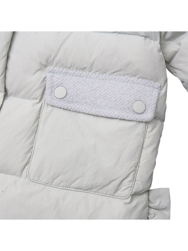 RUFFLE TRIMS DOWN JACKET