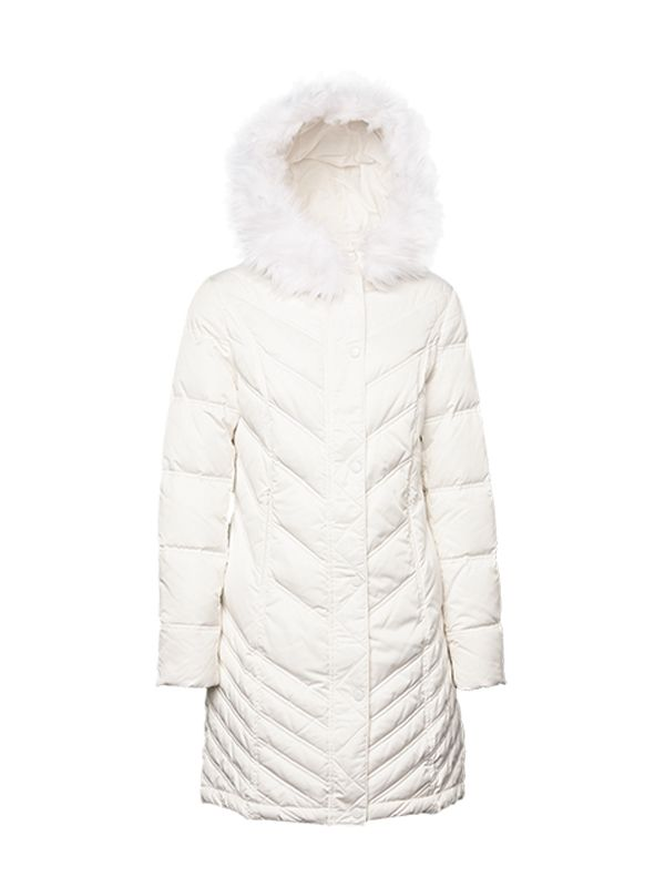 SNOW WHITE CLASSIC SLIM-FIT DOWN JACKET
