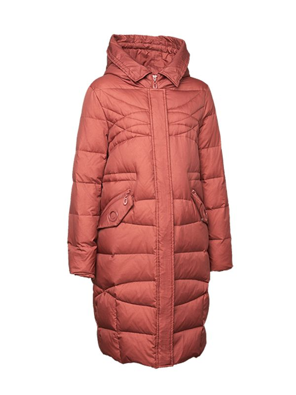 DOWN JACKET WITH LARGE HOOD FUR