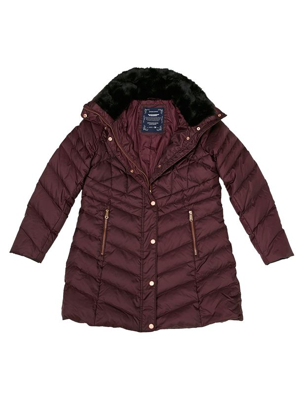 CLASSIC DOWN PARKA JACKET WITH MULTIFUNCTION COLLAR