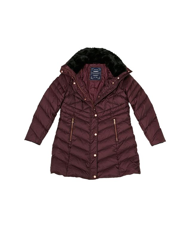 2 TONE BASIC DOWN JACKET