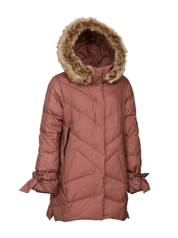 ASYMMETRIC QUILTED DOWN PARKA JACKET