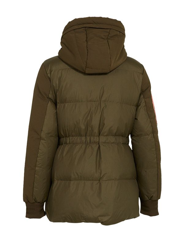 SHORT TRENDY DOWN PARKA JACKET WITH CONTRAST LINING