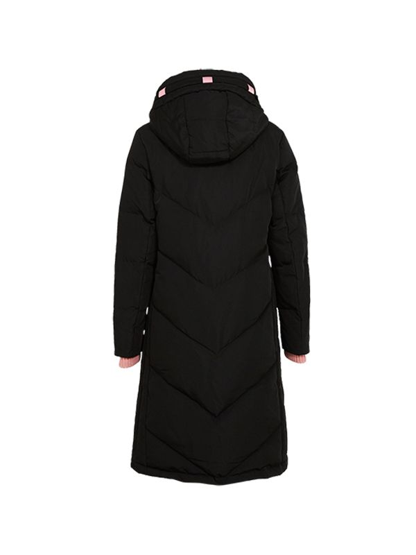 TRENDY DOWN PARKA JACKET WITH CONTRAST LINING