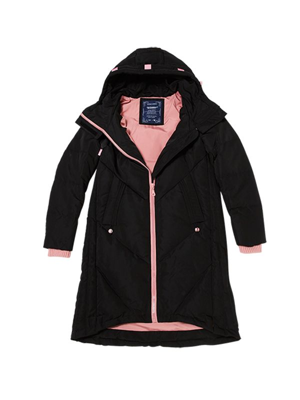 TRENDY DOWN JACKET WITH CONTRAST LINING