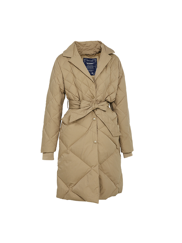 TRENDY COAT STYLE DOWN JACKET WITH DETACHABLE BIB WITH HOOD