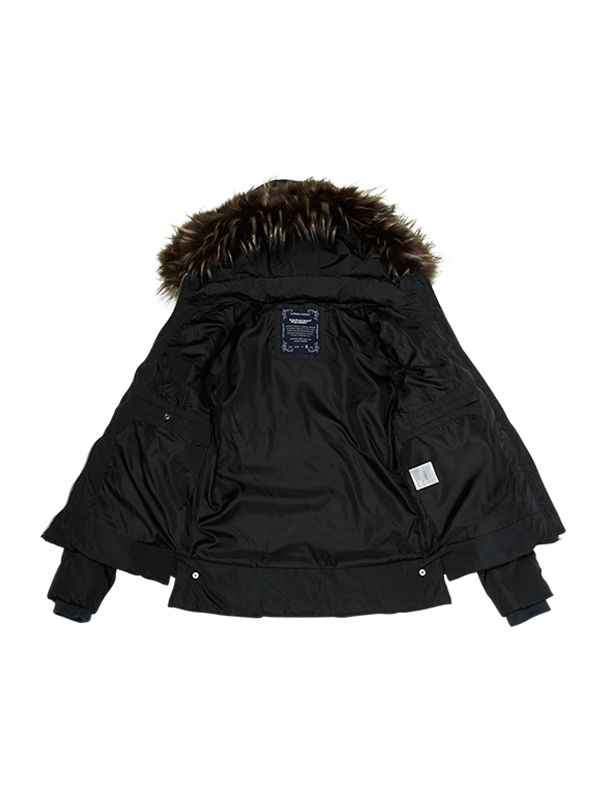 CLASSIC CHEVRON QUILTED DOWN PARKA JACKET