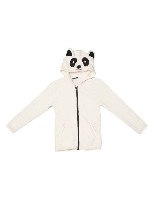 KIDS PANDA HOOD FLEECE JACKET