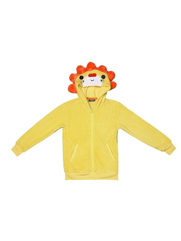 BOY'S LION HOOD FLEECE JACKET