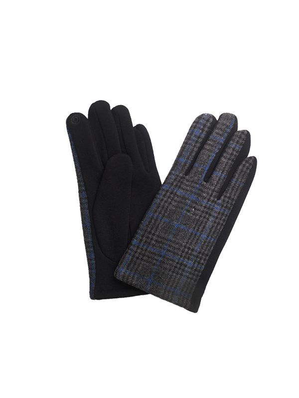 CHECKERED WOOL GLOVES