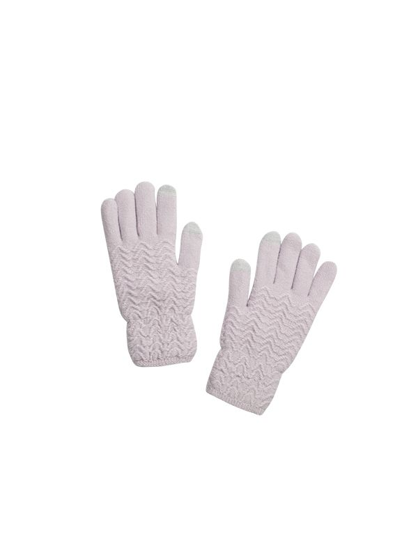 KNITTED GLOVES WITH FLEECE LINING