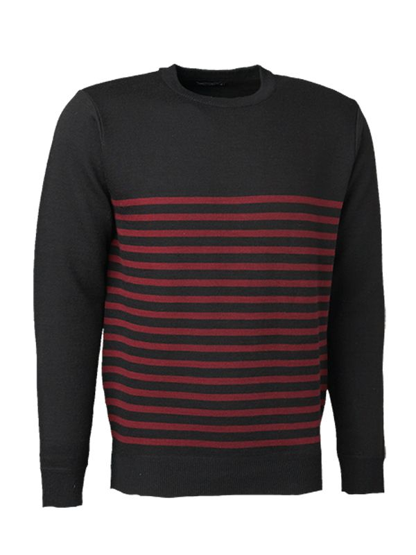 RED STRIPES KNITTED SWEATER
