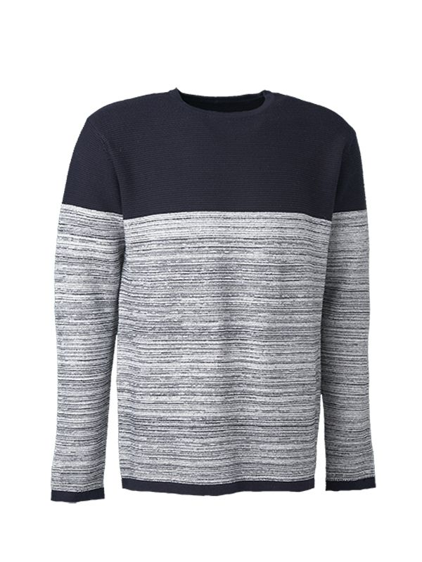 CREW NECK CONTRAST KNITTED SWEATER