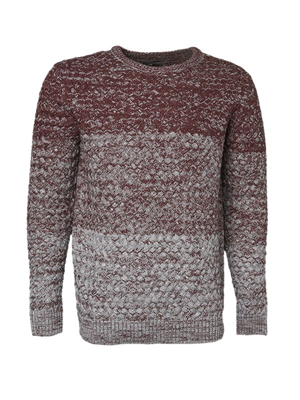 MEN'S OMBRE CREW NECK SWEATER