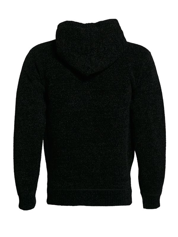 FULL ZIP BONDED KNITTED SWEATER WITH HOOD