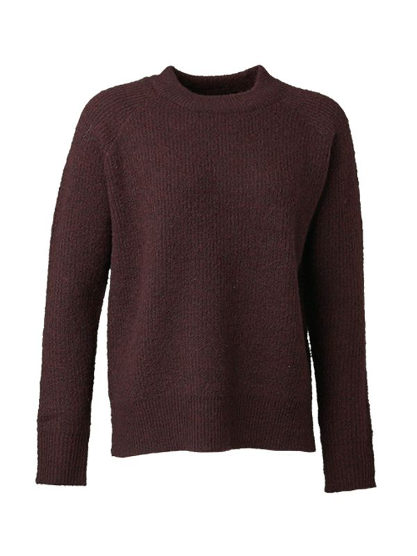 SOLID COLOR RAGLAN KNIT SWEATER