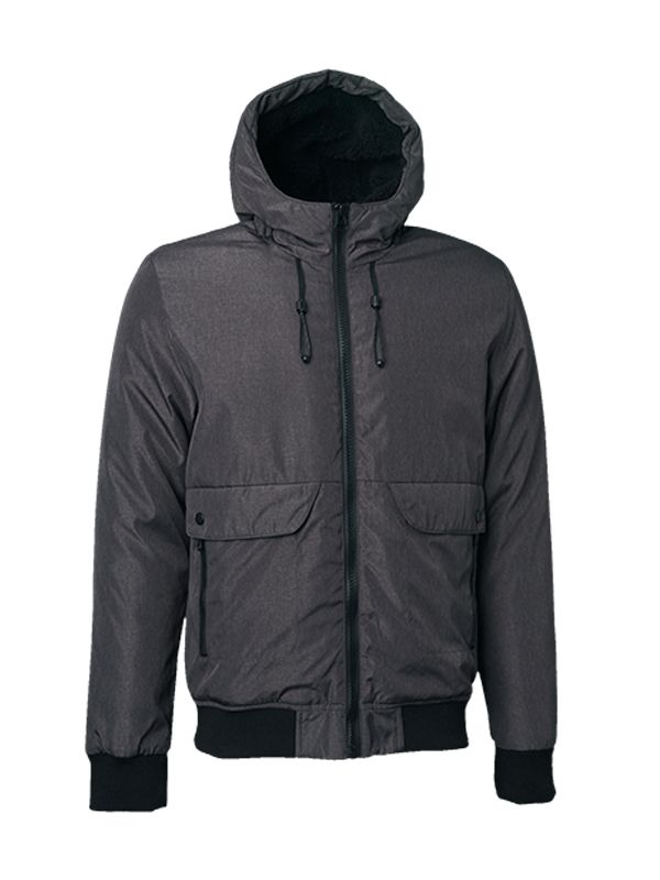 BOMBER PADDED JACKET WITH HOOD
