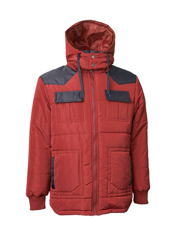CONTRAST PANELS PADDED JACKET