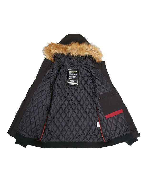 PUFFER JACKET WITH REFLECTIVE PRINT