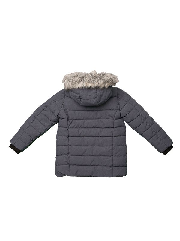 BOY PADDLE JACKET WITH FAUX FUR HOOD