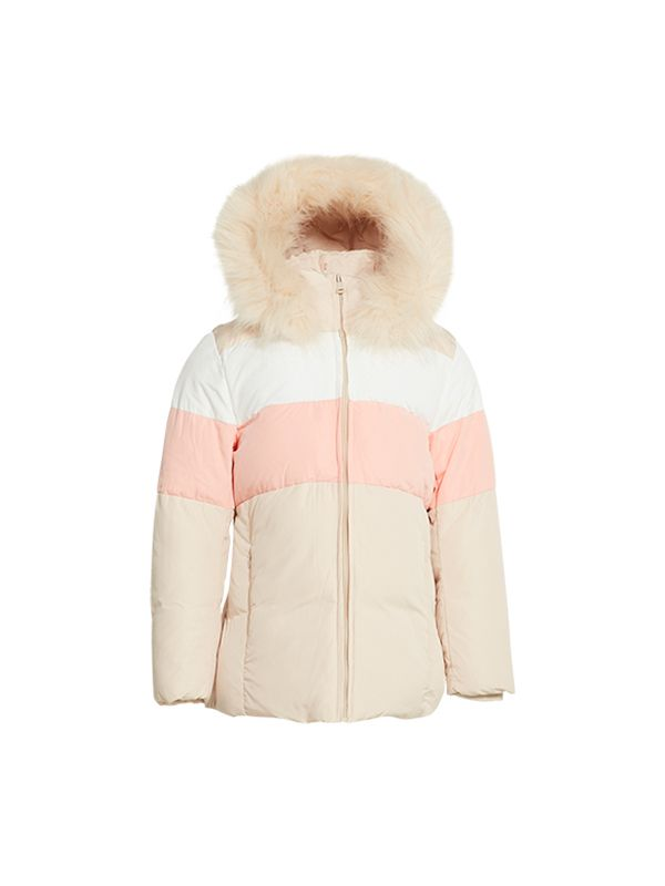 PUFFER JACKET WITH CONTRAST PANEL