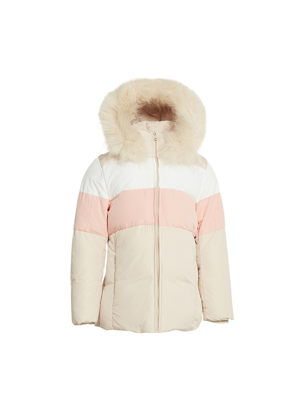 KIDS PADDING JACKET WITH CONTRAST PANEL