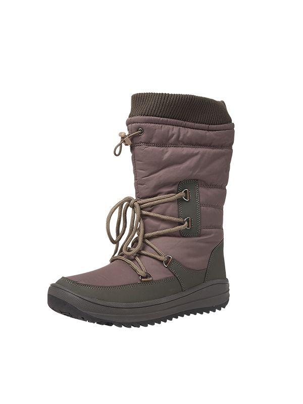 MID-LENGTH ZIP UP LACE SNOW BOOTS