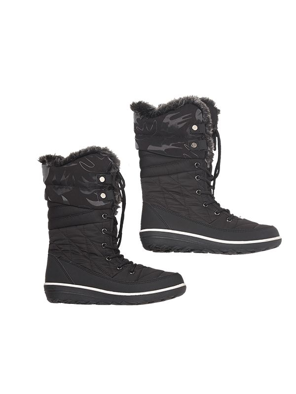 WOMEN HIGH-CUT QUILTED SNOW BOOTS
