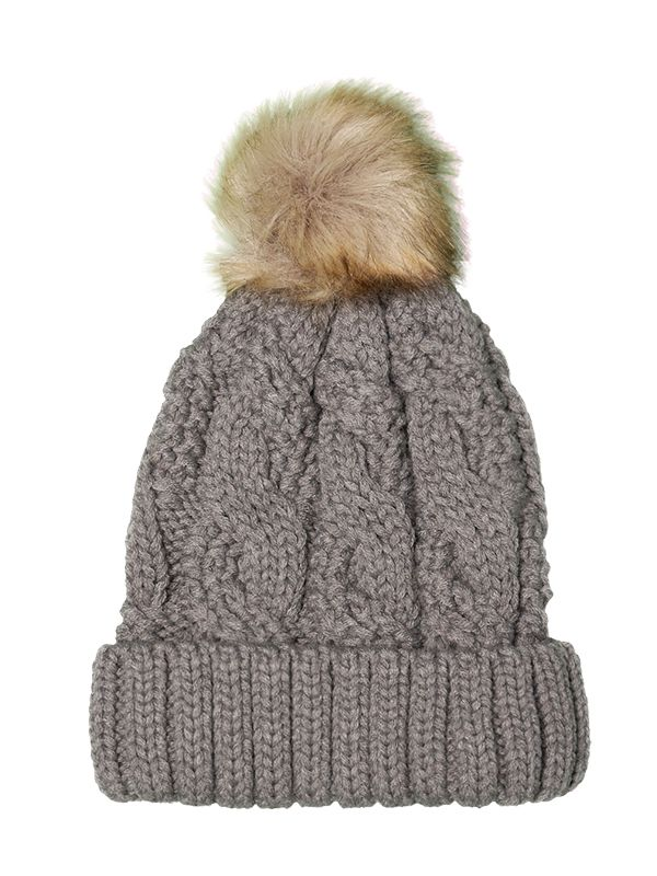 WOMEN CABLE KNITTED HAT