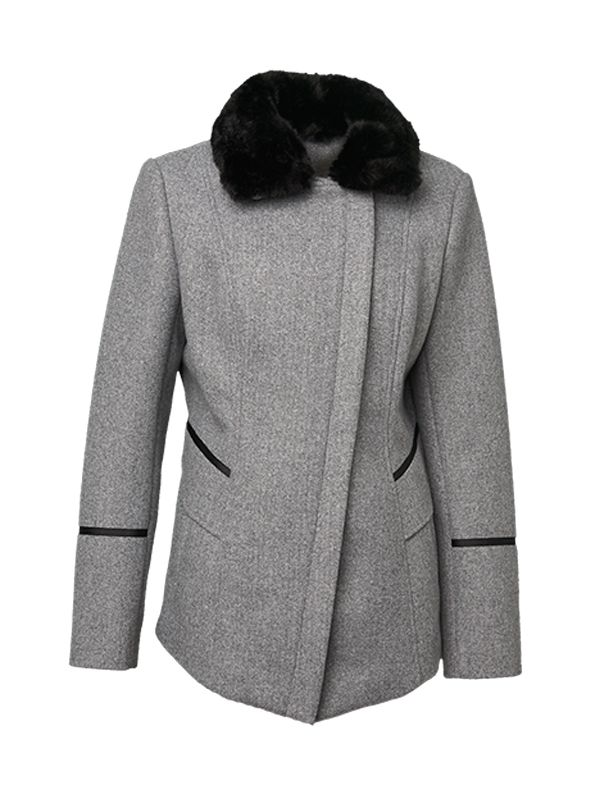 CONTRAST PIPPING COAT