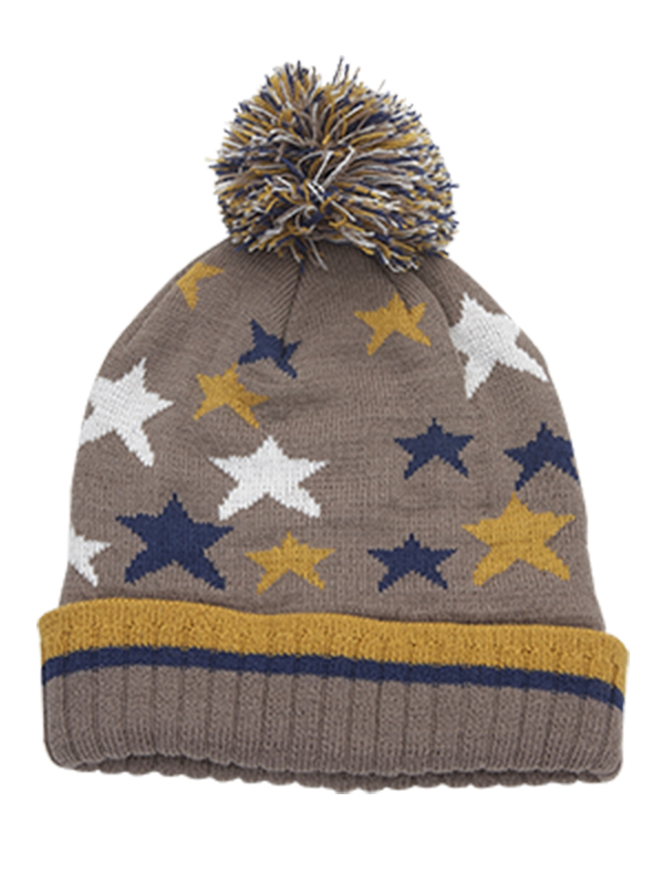 BOY'S MULTICOLOURED STAR KNITTED HAT